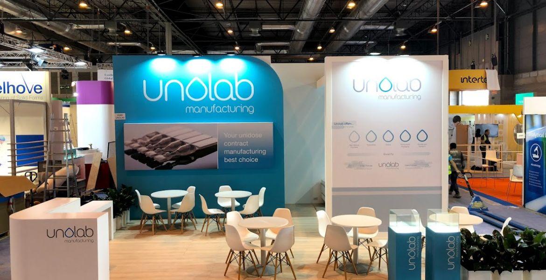 STAND realizado para UNOLAB en la Feria  CPhI WORLDWIDE 2018 en Madrid